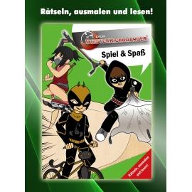 Geisterkickboarder Spiel & Spaß Büchlein: Rätseln, ausmalen und lesen, Band 1