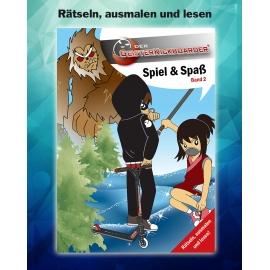 Geisterkickboarder Spiel & Spaß Büchlein: Rätseln, ausmalen und lesen, Band 2